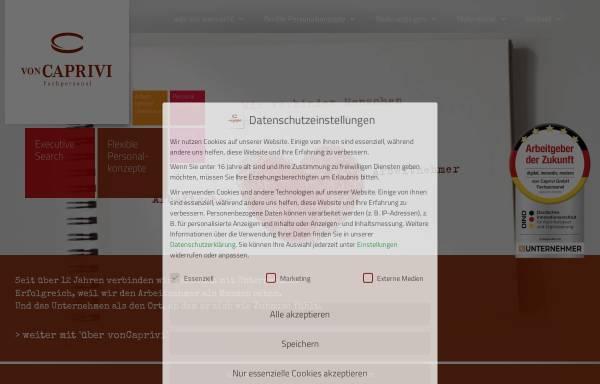Vorschau von voncaprivi.de, von Caprivi GmbH Fachpersonal