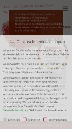 Vorschau der mobilen Webseite voncaprivi.de, von Caprivi GmbH Fachpersonal