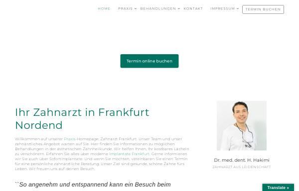 Vorschau von nordend-zahnarzt.de, Dr. Hakimi und Kollegen