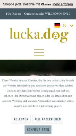 Vorschau der mobilen Webseite www.lucka.dog, Lucka.dog