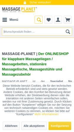 Vorschau der mobilen Webseite massage-planet.de, MASSAGE PLANET
