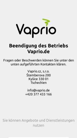 Vorschau der mobilen Webseite www.vaprio.de, Vaprio.de GmbH