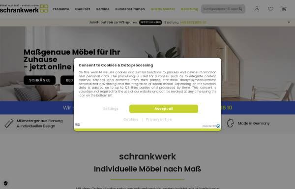 Vorschau von www.schrankwerk.de, schrankwerk Dickmänken GmbH