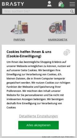 Vorschau der mobilen Webseite www.brasty.de, BRASTY GROUP s.r.o.