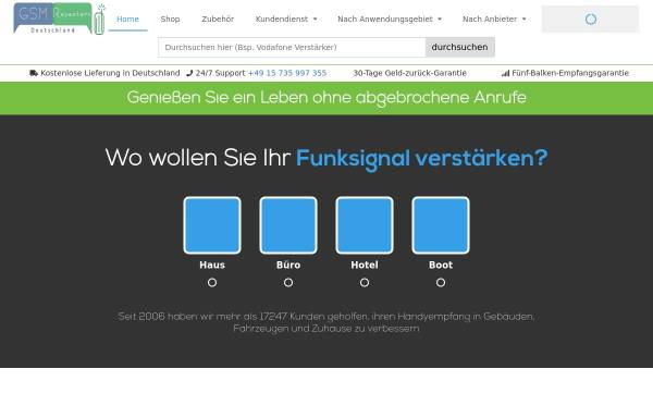 Vorschau von gsmrepeaters.de, Gsm Repeaters