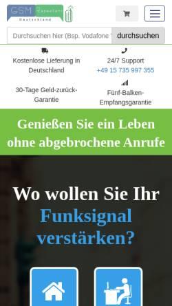 Vorschau der mobilen Webseite www.gsmrepeaters.de, Gsm Repeaters