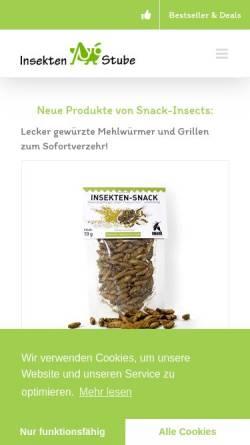 Vorschau der mobilen Webseite insektenstube.de, Insektenstube