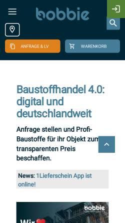 Vorschau der mobilen Webseite www.bobbie.de, bobbie Deutschland Gmbh