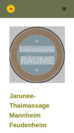 Vorschau der mobilen Webseite jarunee-thaimassage.de, Jarunee-Thaimassage Mannheim