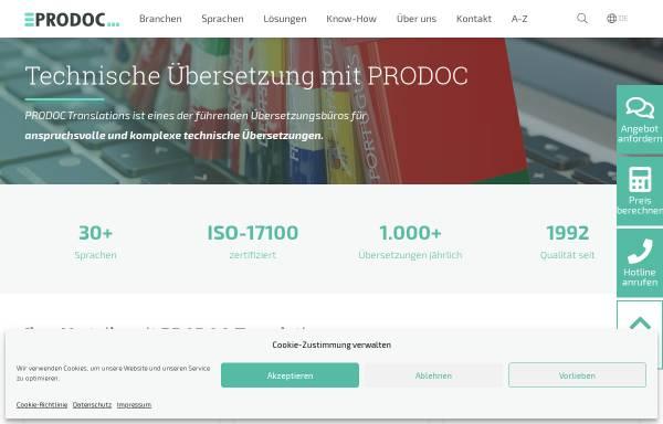 Vorschau von prodoc-translations.com, PRODOC Translations GmbH