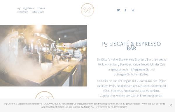 Vorschau von p5-cafe.de, P5 Eiscafe & Espresso Bar