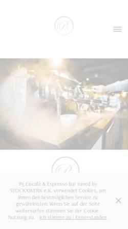 Vorschau der mobilen Webseite p5-cafe.de, P5 Eiscafe & Espresso Bar