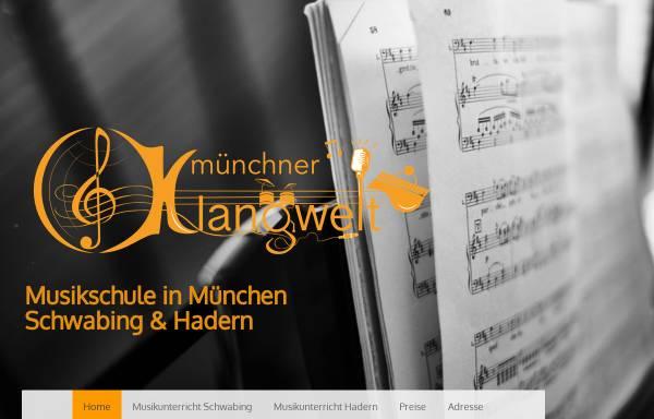 Vorschau von www.musikschule-muenchner-klangwelt.de, Musikschule München Schwabing