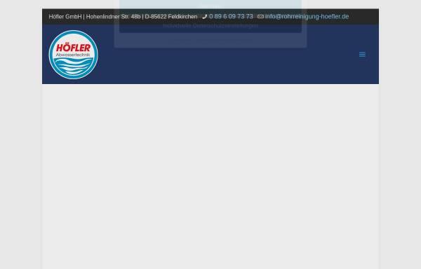 Vorschau von www.rohrreinigung-hoefler.de, Höfler GmbH