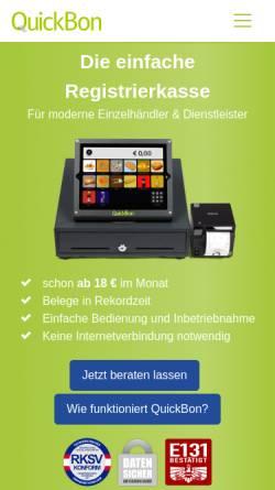 Vorschau der mobilen Webseite www.quickbon.at, AppRaum GmbH