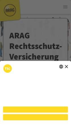 Vorschau der mobilen Webseite www.rechtsschutz-koeln.de, ARAG Generalagentur
