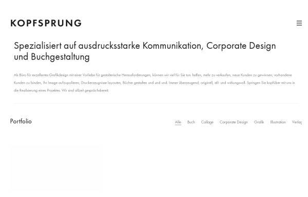 Vorschau von kopfsprung.de, KOPFSPRUNG - Buchgestaltung aus Köln