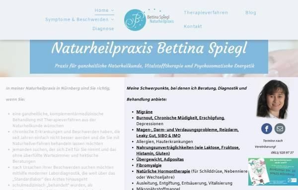 Vorschau von www.naturheilpraxis-spiegl.de, Naturheilpraxis Bettina Spiegl