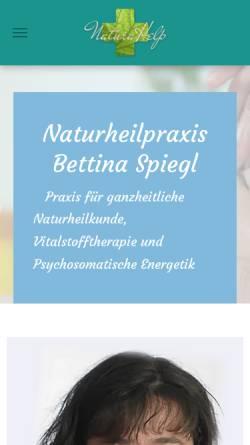Vorschau der mobilen Webseite www.naturheilpraxis-spiegl.de, Naturheilpraxis Bettina Spiegl