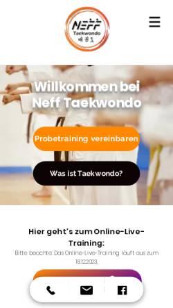 Vorschau der mobilen Webseite www.nefftaekwondo.de, Neff Taekwondo