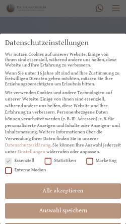 Vorschau der mobilen Webseite plastische-chirurgie-giessler.de, Plastische Chirurgie Dr. med. Svenja Giessler