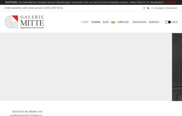 Vorschau von www.galerie-mitte.de, Galerie MITTE