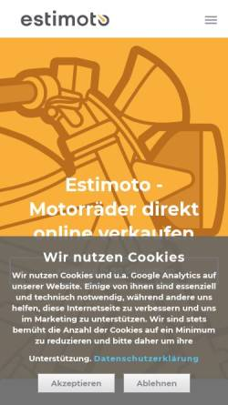 Vorschau der mobilen Webseite estimoto.de, Estimoto