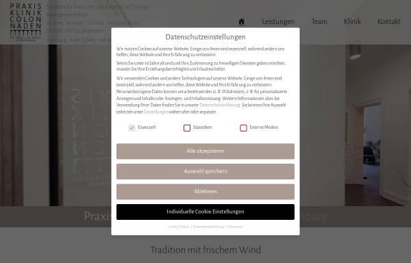 Vorschau von praxisklinik-colonnaden.de, Praxisklinik Colonnaden
