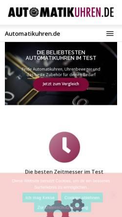 Vorschau der mobilen Webseite automatikuhren.de, Automatikuhren.de