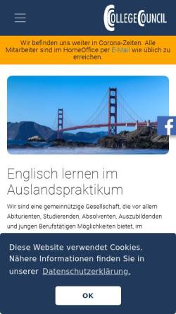 Vorschau der mobilen Webseite www.college-council.de, CollegeCouncil