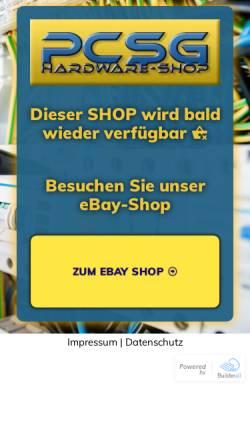 Vorschau der mobilen Webseite pcsg-shop.com, PCSG-Shop