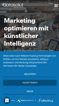 Vorschau der mobilen Webseite datasolut.com, datasolut Gmbh