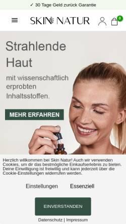 Vorschau der mobilen Webseite skinnatur.de, Skin Natur