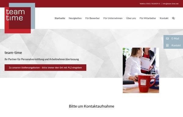 Vorschau von team-time.net, team-time GmbH
