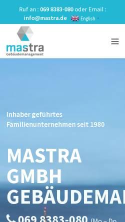 Vorschau der mobilen Webseite mastra.de, mastra GmbH