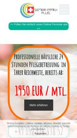 Vorschau der mobilen Webseite seniorfamilyplus.de, SENIOR FAMILY PLUS