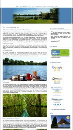 Vorschau der mobilen Webseite www.seeferienhaus.de, Ferienhaus SEERESIDENZ