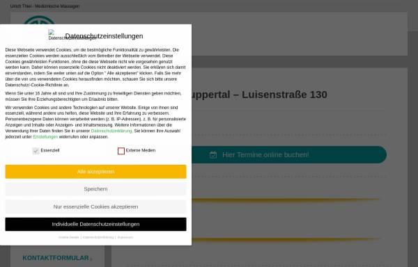 Vorschau von ulrichthiel.de, Gesundheits- und Massagepraxis Wuppertal
