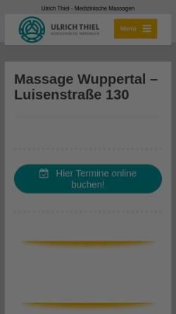 Vorschau der mobilen Webseite ulrichthiel.de, Gesundheits- und Massagepraxis Wuppertal