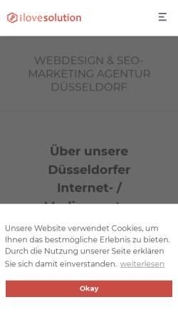 Vorschau der mobilen Webseite www.ilovesolution.de, ilovesolution - DigitalCreed GmbH