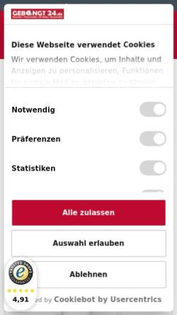 Vorschau der mobilen Webseite www.gebongt24.de, GEBONGT24