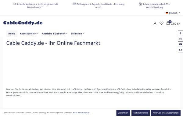 Vorschau von www.cablecaddy.de, Cable Caddy
