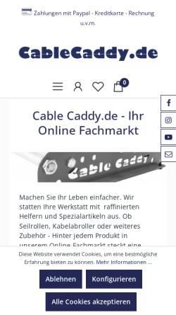 Vorschau der mobilen Webseite www.cablecaddy.de, Cable Caddy