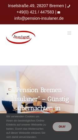 Vorschau der mobilen Webseite www.pension-insulaner.de, Pension Insulaner