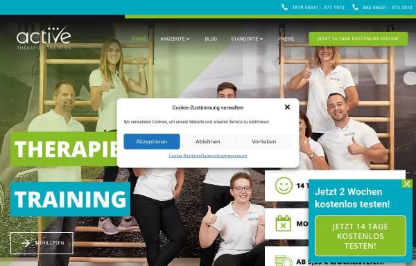 Vorschau von active-mosel.de, active Gesundheit und Fitness