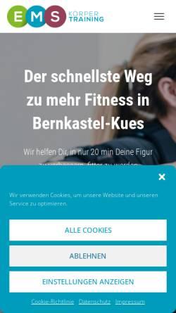 Vorschau der mobilen Webseite ems-koerpertraining.de, EMS-Körpertraining