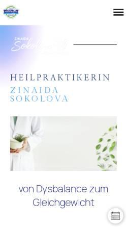Vorschau der mobilen Webseite naturheilpraxis-sokolova.de, Naturheilpraxis Sokolova