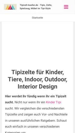 Vorschau der mobilen Webseite tipizelt-kaufen.de, Tipizelt-kaufen.de