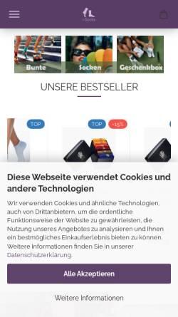 Vorschau der mobilen Webseite www.i-socks.eu, i-socks
