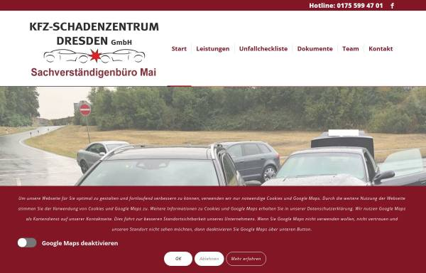 Vorschau von www.kfz-schadenzentrum.com, KFZ-SCHADENZENTRUM DRESDEN GmbH